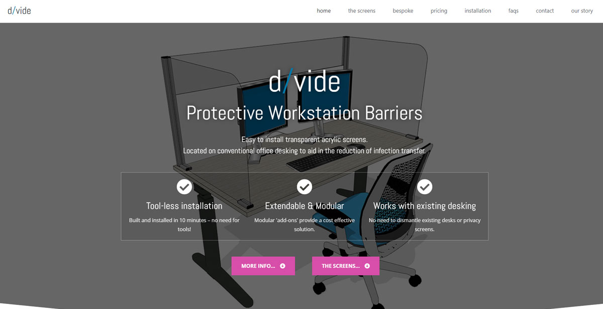 dvide.co.uk website