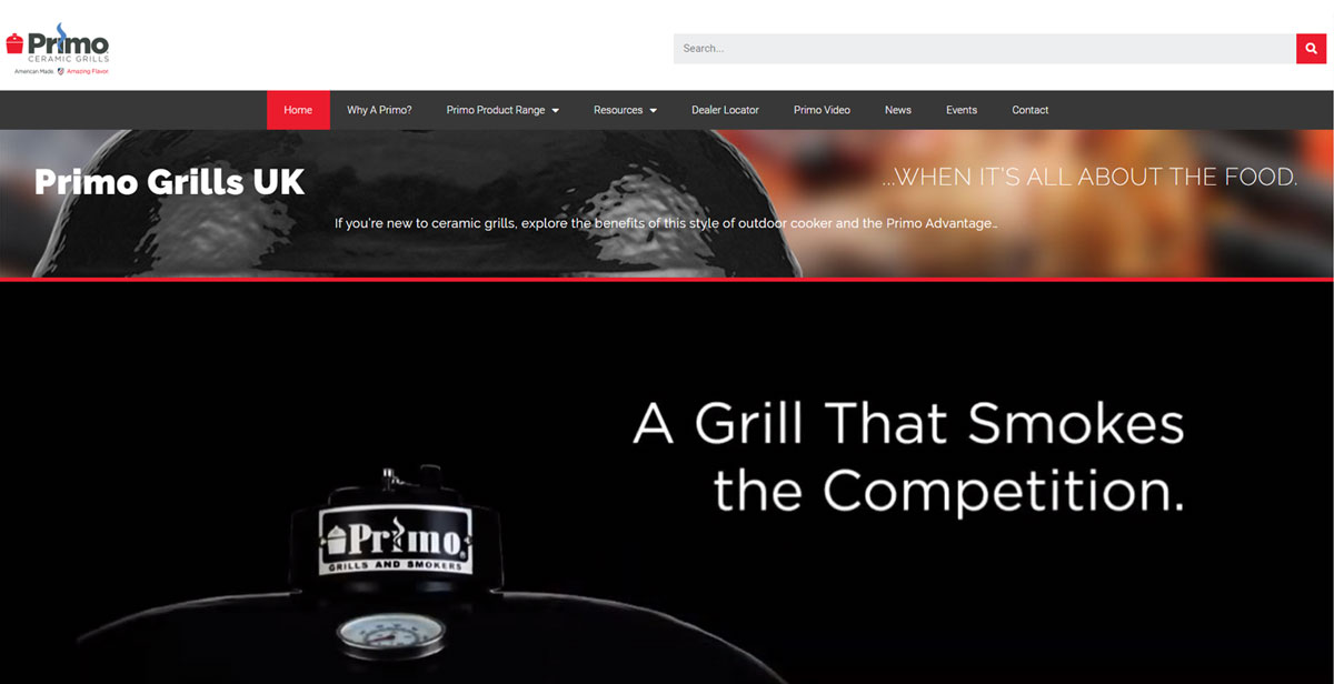 Primo Grill UK website